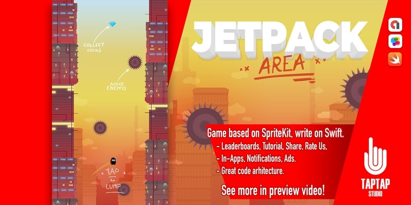 Jetpack Area - iOS XCode Template