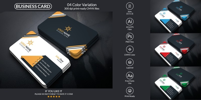 Corporate And Creative Business Card Design