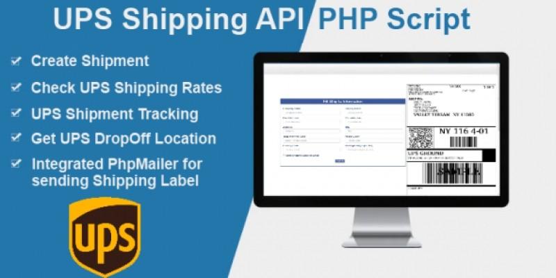 UPS Shipping API PHP Script