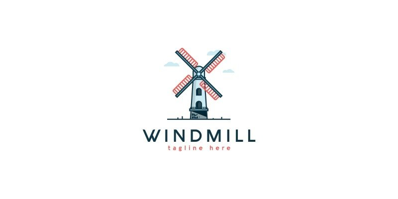 Windmill Logo Template