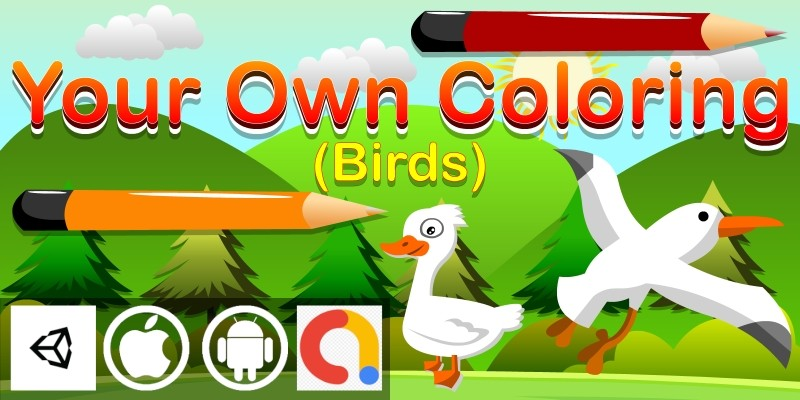 Your Own Coloring – Birds Unity Kids Game