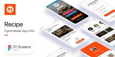 Recipe - Mobile App UI Kit - Figma