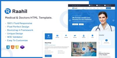 Raahil - Medical And Healthcare HTML Template