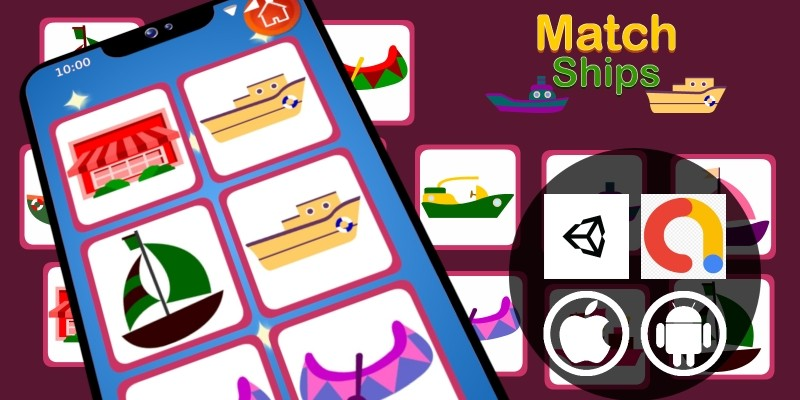 Match Ships Unity Educational Kid Game With Admob