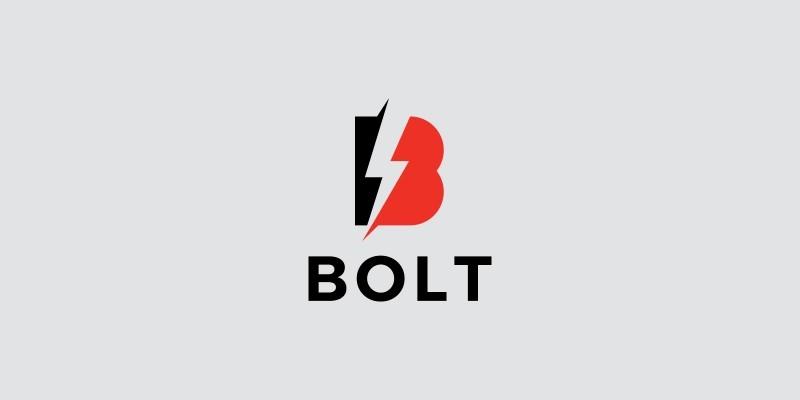 Bolt B Letter Logo