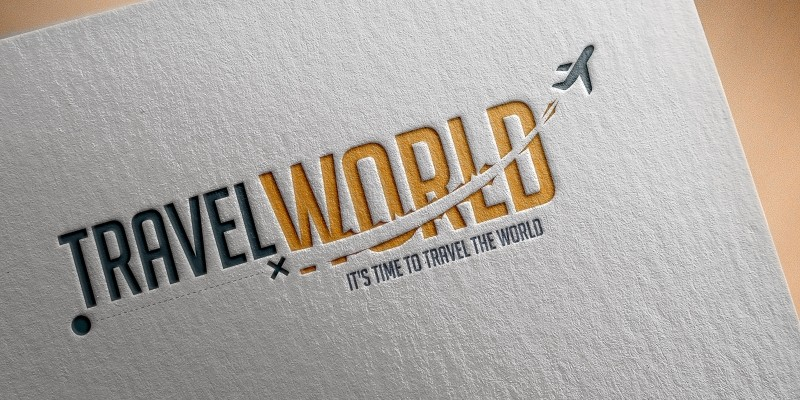 Travel World Logo Design Template