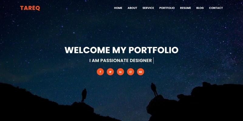 Tareq Personal Portfolio Bootstrap4 Template