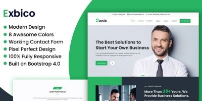 Exbico Bonik - Multipurpose Business HTML Template