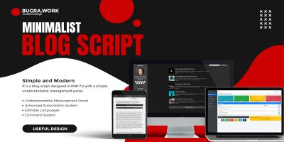 Advanced Minimalist Personal Blog Script