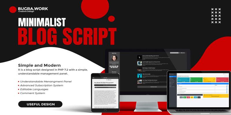 Advanced Minimalist Personal Blog Script
