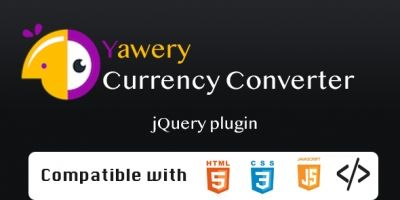 Yawery Currency Converter jQuery Plugin