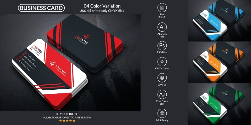 Corporate And Professional Business Card