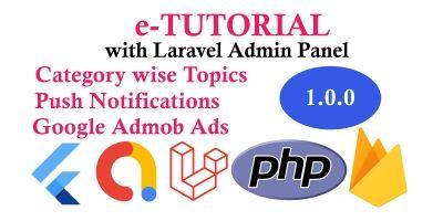 e-Tutorial Full Flutter App with Admin Panel
