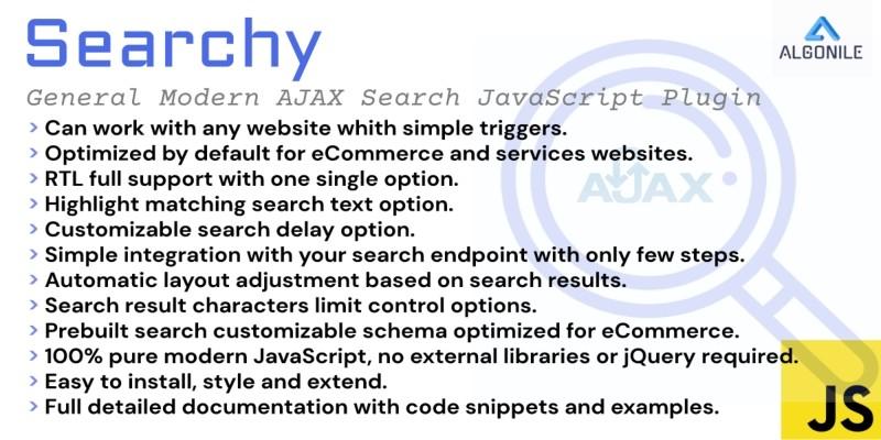 Searchy  - Ajax Search JavaScript Plugin
