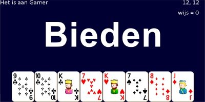 Bieden Card Game Made With Python Using Pygame