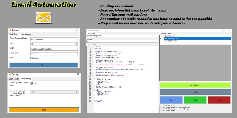 Email Automation C# Source Code