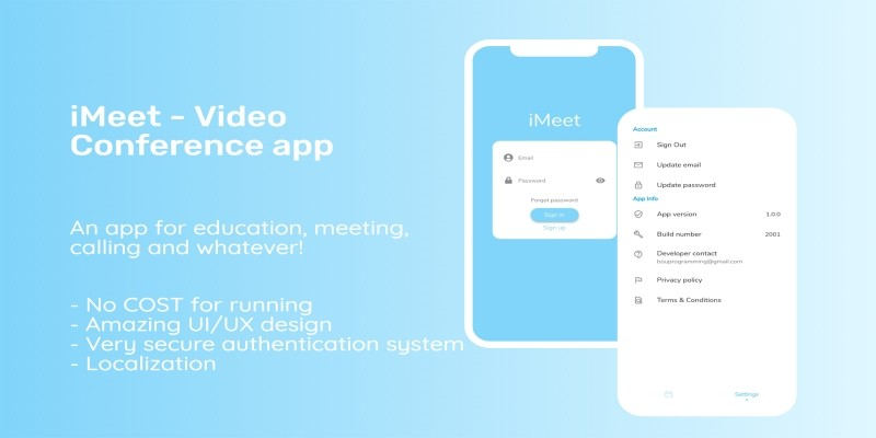 iMeet - Video Conference Android App Source Code