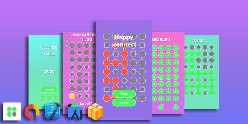 Happy Dot Connect - Buildbox Template