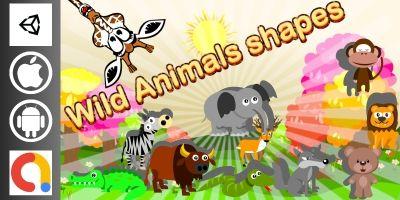 Edukida - Wild Animals Shapes Unity Kids Game
