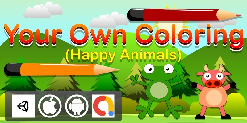 Edukida Your Own Coloring Happy Animals Kids Game