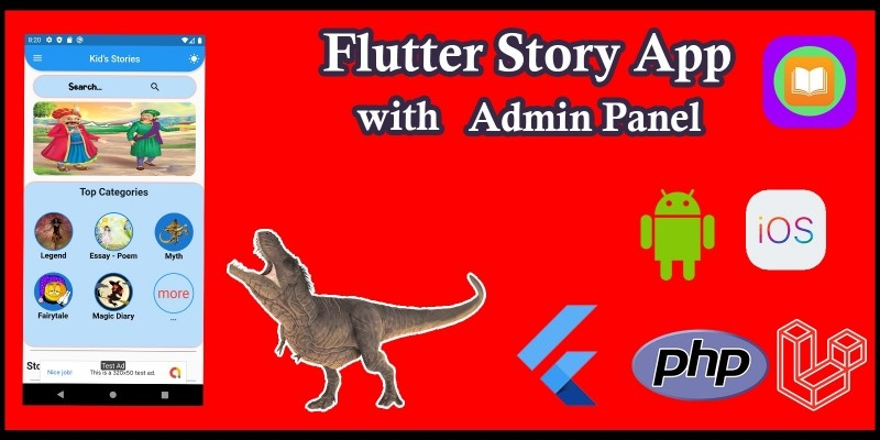 Flutter Story App with Admin Panel