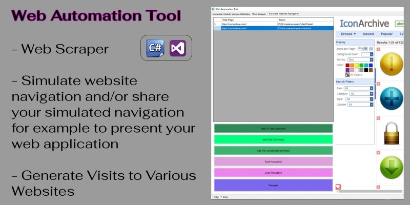 Web Automation Tool C#