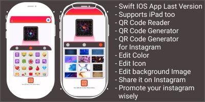Instagram QR Code Generator iOS App