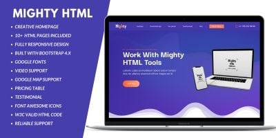 Mighty Business  HTML  Landing Page
