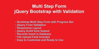 jQuery Multi Step Form with Validation