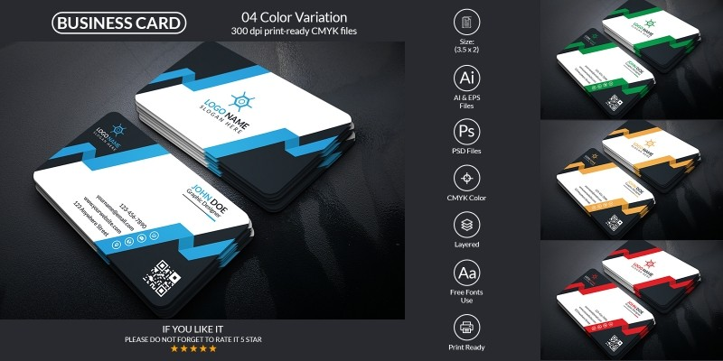 Creative Business Card Design With Vector Format