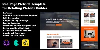 Landing Template For OctoKing Website Builder