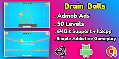 Brain Balls Game Unity Source Code