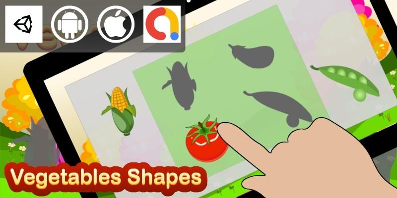 Edukida - Vegetables Shapes Unity Kids Game