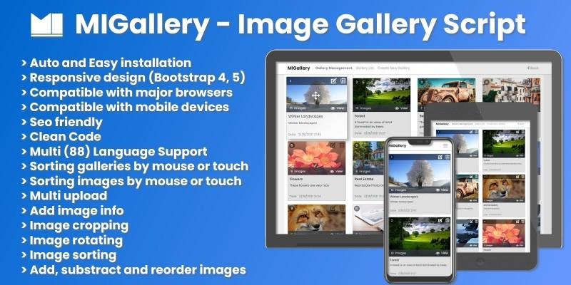 MIGallery - Image Gallery Script