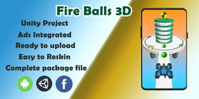 Fire Ball 3d Game - Complete Unity Source Code