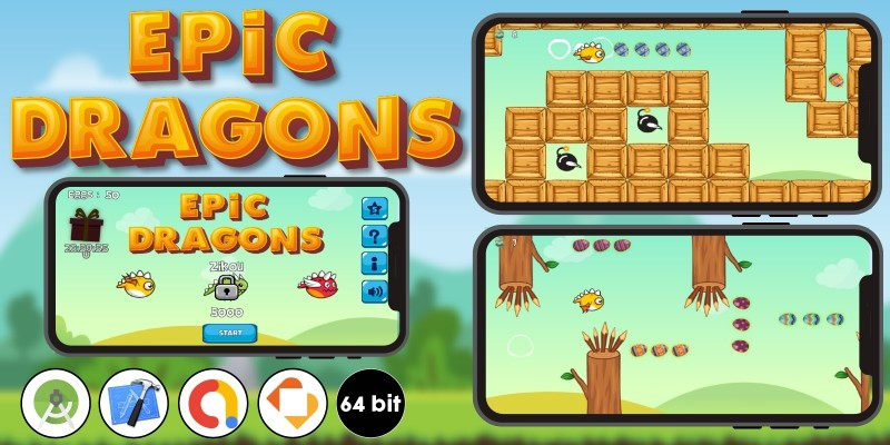 Epic Dragons - Buildbox Template