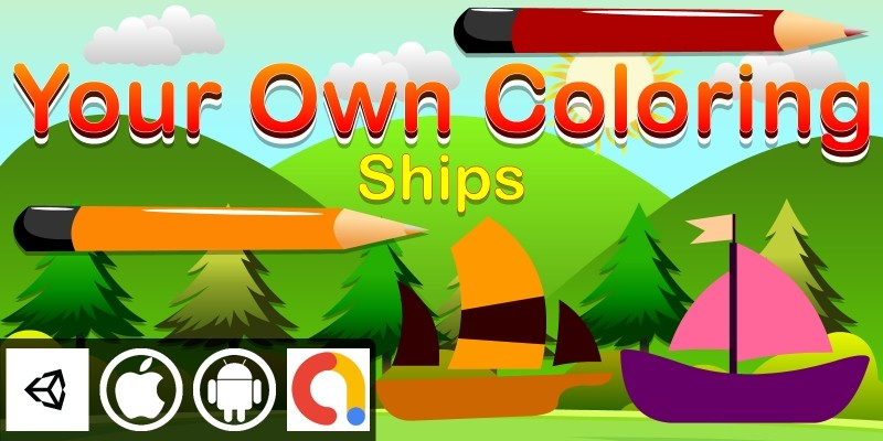 Edukida - Your Own Coloring Ships Unity Kids Game