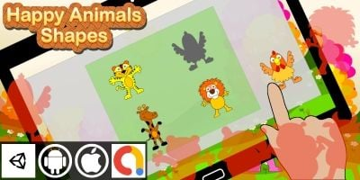 Edukida - Happy Animals Shapes Unity Kids Game