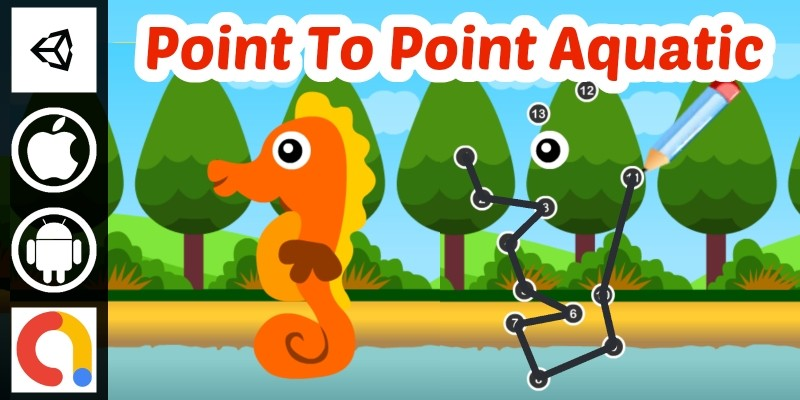 Edukida - Point to Point Aquatic Unity Kids Game