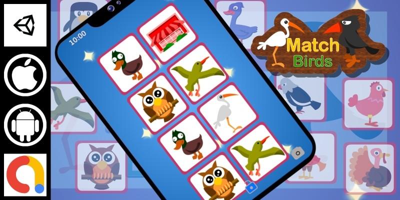 Edukida - Match Birds Unity Kids Educational Game