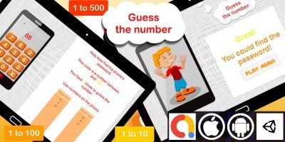Edukida - Guess the Number Unity Math Game