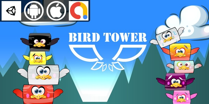 Bird Tower Unity Casual Game With Admob
