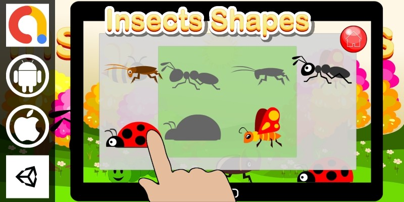 Edukida Insects Shapes Unity Kids Game With Admob