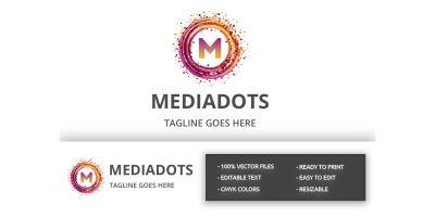 Media Dots Letter M Logo