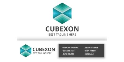 Cube Hexagon Logo
