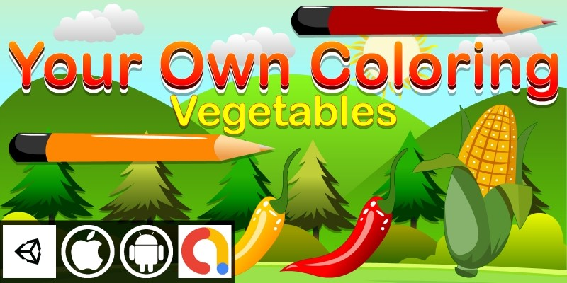 Edukida - Your Own Coloring Vegetables Kids Game