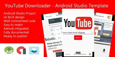 YouTube Video Download - Android Studio Template