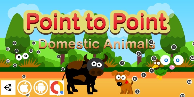 Edukida Point to Point Domestic Animals Kids Game