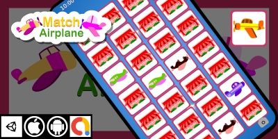 Edukida - Match Airplanes Unity Kids Game
