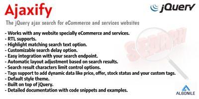 Ajaxify - jQuery Ajax Search